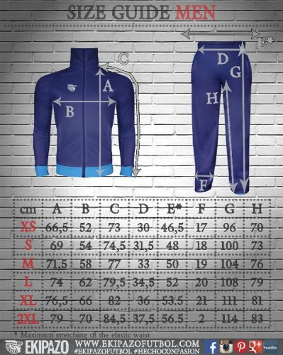 Size Guide Training Wear Men Ekipazo