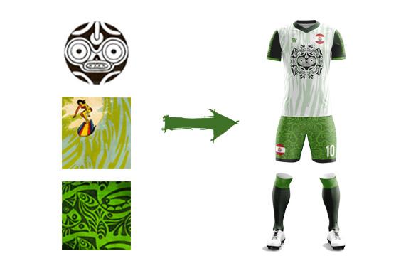 maillot football tahiti modèle Fenua