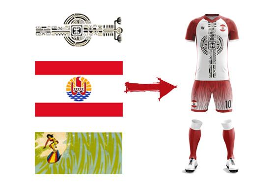 maillot football tahiti modèle Aru