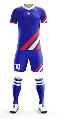 Maillot de foot bleu blanc rouge france