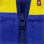 Détails Zip Survetement bleu et jaune