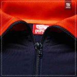 Détails Zip Survetement bleu marine et orange