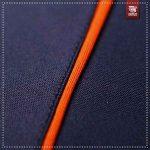 Détails 1 Survetement bleu marine et orange